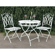 white outdoor table and chairs metal garden table and chairs hangrofficial com