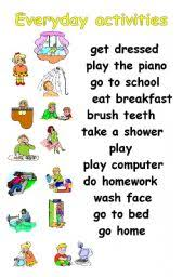 everyday activities worksheet by michal26