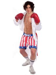 rocky balboa halloween costume kids mens official rocky balboa film boxer fighter fancy dress