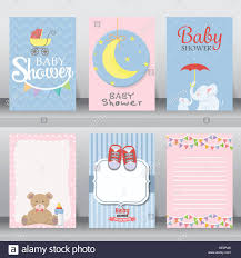 baby shower party greeting and invitation card layout template in
