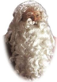 santa beard santa claus deluxe wig beard one size clothing