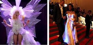celebrities sparkle in led dresses lady gaga vs katy perry