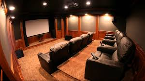 Home Theatre Interior Design by Interior Elegant Theater Room Design With White Wall Lamp And