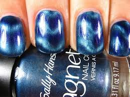 right on the nail sally hansen magnetic polishes ionic indigo