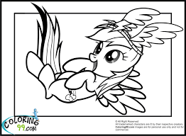 incridible rainbow dash rocks coloring pages little pony baby