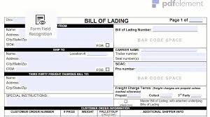 bill of lading form template free download create fill print