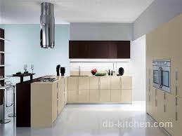 khaki color petg matte finish modern style kitchen cabinet color