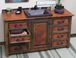 Rustic Bathroom Sconces Rustic Pine Bathroom Vanities Brown Marble Tiles Floor Wine Barrel