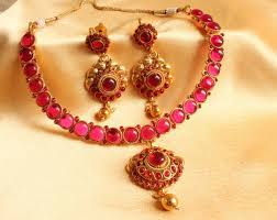 craftsvilla earrings buy awesome kemp antique necklace set online