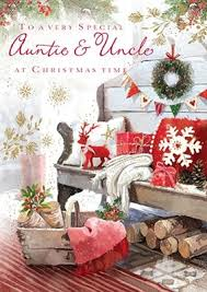 cym cards auntie u0026 uncle christmas card from the at home range