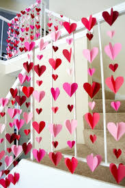 heart decorations 3 d heart paper garlands easy diy decorations photo