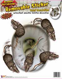 party city halloween window clings rats rat toilet seat cover sticker bathroom decor halloween decor