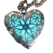 fairy pendant necklace images Steampunk fairy magical glow in the dark heart jpg