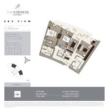 floor plans by address floor plans the address sky view towers downtown dubai by emaar