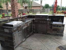 prefab outdoor kitchen grill islands kitchen kitchen island made of stone with dark tones and