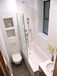 Small Space Bathroom Ideas by Niches In Wall Above Toilet Wall Hung Toilet No Shower Curtain
