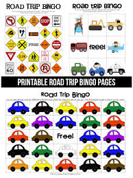 Free Printable Halloween Bingo Cards With Pictures Printable Road Trip Bingo