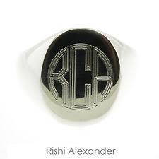 mens monogram ring monogram ring ebay