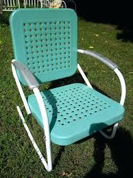 Retro Patio Chair Metal Rocking Patio Chairs Retro Outdoor Metal Lawn Patio Porch