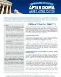 Va National Service Desk by After Doma Veteran U0027s Spousal Benefits Lambda Legal