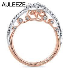 filigree engagement rings aliexpress com buy whimsical filigree two stone moissanites ring