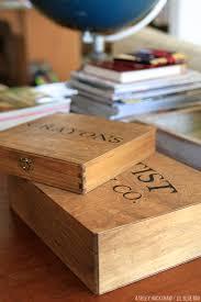 craft organization vintage inspired supply boxes