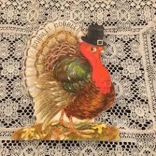 vintage gold hallmark thanksgiving wrapping by grandmothersattic
