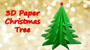 how to make a 3d paper christmas tree origami youtube