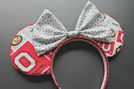 ohio state ribbon ohio state buckeyes osu handmade mickey minnie ears headband kid