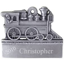 engine pewter ornament