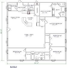 4 bedroom open floor plans 30 barndominium floor plans for different purpose bedroom