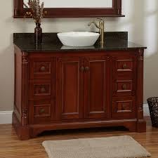 cherry wood bathroom mirror 48 trevett vessel sink vanity cherry bathroom