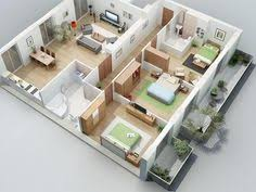 House Plans And Designs For 3 Bedrooms 25 More 3 Bedroom 3d Floor Plans 3d Bedrooms And House