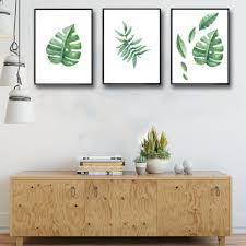 aliexpress com buy nordic simple fresh watercolor leaves green