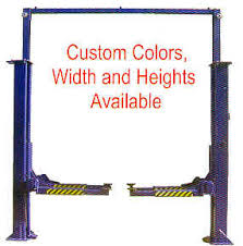 Low Ceiling 2 Post Lift by Custom Size Low Ceiling Automotive Lift Gemini Auto Lift Two