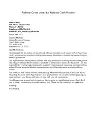 cover letter from a referral the letter sample