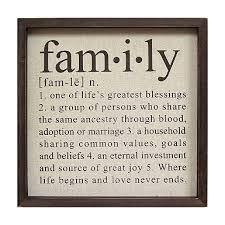 driftwood family word plaque kirklands