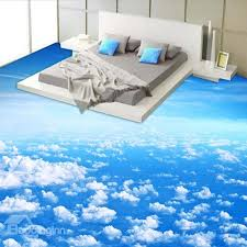 3d flooring blue sky and white cloud pattern nonslip and waterproof 3d floor