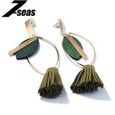 dangler earring 7seas ethnic tassel earring colorful women jewelry dangler earring