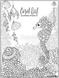 coral reef collection anti stress coloring book for and
