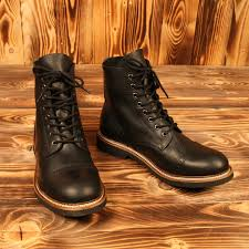 s quarter boots low quarters in black by pike brothers gear