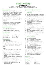 Sample Resume For Retail Assistant by Retail Assistant Cv Hashdoc