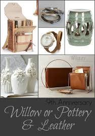 9th anniversary gift ideas 9th anniversary gift ideas traditional willow pottery or