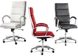 neo modern white red or black leather executive high back office