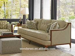barclay sofa wood trimmed sofa button tufted living room furniture