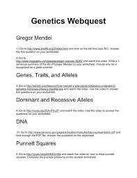 genetics webquest gregor mendel 1 go to http www dnaftb org 2