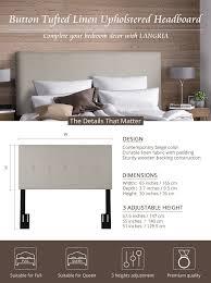 headboards for adjustable beds amazon com langria full queen headboard living adjustable