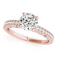 carved engagement rings carved diamond engagement ring setting moissanite center poca