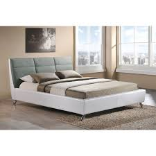 Modern White Bed Frame Baxton Studio Bruno Modern And Contemporary Two Tone White And