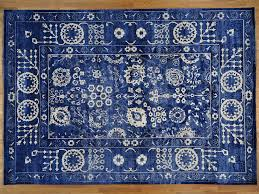Faux Persian Rugs by Royal Blue Rug Ottomanson Soft Solid Shaggy Plush Shag Area Rug